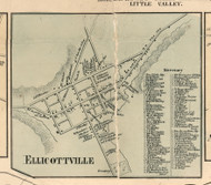 Ellicottville Village, New York 1856 Old Town Map Custom Print - Cattaraugus Co.