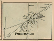 Farmersville Village, New York 1856 Old Town Map Custom Print - Cattaraugus Co.