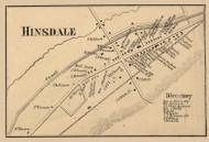 Hinsdale Village, New York 1856 Old Town Map Custom Print - Cattaraugus Co.