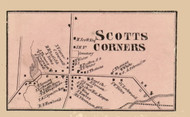Scotts Corners Village, New York 1856 Old Town Map Custom Print - Cattaraugus Co.