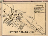 Little Valley Village, New York 1856 Old Town Map Custom Print - Cattaraugus Co.