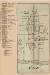 Olean Village, New York 1856 Old Town Map Custom Print - Cattaraugus Co.