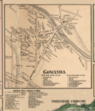 Gowanda Village, New York 1856 Old Town Map Custom Print - Cattaraugus Co.