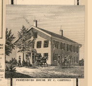 Campbell Residence, Perrysburg, New York 1856 Old Town Map Custom Print - Cattaraugus Co.