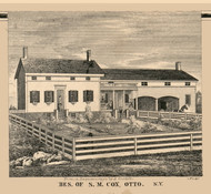 Cox Residence, Otto, New York 1856 Old Town Map Custom Print - Cattaraugus Co.