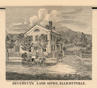 Deveraux Office, Ellicottville, New York 1856 Old Town Map Custom Print - Cattaraugus Co.