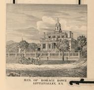 Howe Residence, Little Valley, New York 1856 Old Town Map Custom Print - Cattaraugus Co.