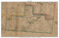 Afton, New York 1863 Old Town Map Custom Print - Chenango Co.