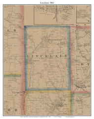 Lincklaen, New York 1863 Old Town Map Custom Print - Chenango Co.