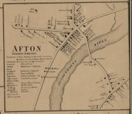 Afton Village, New York 1863 Old Town Map Custom Print - Chenango Co.