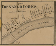 Chenango Falls, New York 1863 Old Town Map Custom Print - Chenango Co.