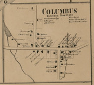 Columbus Village, New York 1863 Old Town Map Custom Print - Chenango Co.