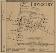 Coventry Village, New York 1863 Old Town Map Custom Print - Chenango Co.