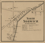 North Norwich Village, New York 1863 Old Town Map Custom Print - Chenango Co.