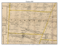 Clarkson, New York 1858 Old Town Map Custom Print - Monroe Co.