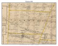Clarkson, New York 1858 Old Town Map Custom Print - Monroe Co.