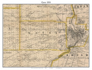 Gates, New York 1858 Old Town Map Custom Print - Monroe Co.