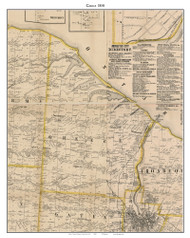 Greece, New York 1858 Old Town Map Custom Print - Monroe Co.