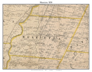 Henrietta, New York 1858 Old Town Map Custom Print - Monroe Co.