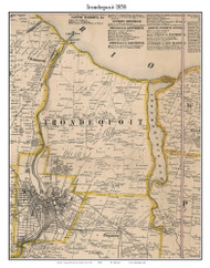 Irondequoit, New York 1858 Old Town Map Custom Print - Monroe Co.