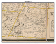 Mendon, New York 1858 Old Town Map Custom Print - Monroe Co.