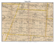 Ogden, New York 1858 Old Town Map Custom Print - Monroe Co.