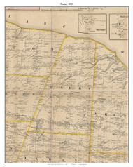 Parma, New York 1858 Old Town Map Custom Print - Monroe Co.