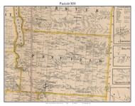 Penfield, New York 1858 Old Town Map Custom Print - Monroe Co.