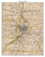 Rochester, New York 1858 Old Town Map Custom Print - Monroe Co.