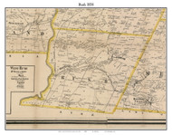 Rush, New York 1858 Old Town Map Custom Print - Monroe Co.