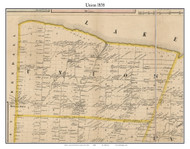 Union, New York 1858 Old Town Map Custom Print - Monroe Co.