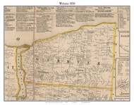 Webster, New York 1858 Old Town Map Custom Print - Monroe Co.