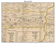Wheatland, New York 1858 Old Town Map Custom Print - Monroe Co.