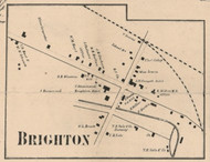 Brighton Village, New York 1858 Old Town Map Custom Print - Monroe Co.