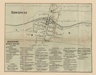 Brockport, New York 1858 Old Town Map Custom Print - Monroe Co.