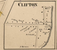 Clifton, New York 1858 Old Town Map Custom Print - Monroe Co.