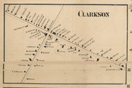 Clarkson Village, New York 1858 Old Town Map Custom Print - Monroe Co.