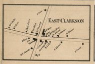 East Clarkson, New York 1858 Old Town Map Custom Print - Monroe Co.