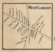 West Clarkson, New York 1858 Old Town Map Custom Print - Monroe Co.