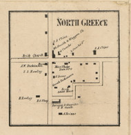 North Greece, New York 1858 Old Town Map Custom Print - Monroe Co.