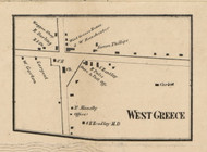 West Greece, New York 1858 Old Town Map Custom Print - Monroe Co.