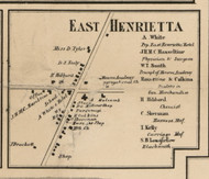 East Henrietta, New York 1858 Old Town Map Custom Print - Monroe Co.