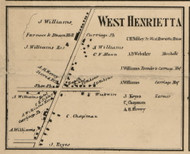 West Henrietta, New York 1858 Old Town Map Custom Print - Monroe Co.