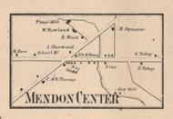 Mendon Center, New York 1858 Old Town Map Custom Print - Monroe Co.