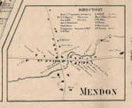 Mendon Village, New York 1858 Old Town Map Custom Print - Monroe Co.