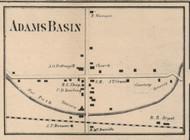 Adams Basin, New York 1858 Old Town Map Custom Print - Monroe Co.