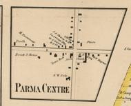 Parma Center, New York 1858 Old Town Map Custom Print - Monroe Co.