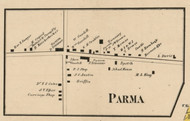 Parma Village, New York 1858 Old Town Map Custom Print - Monroe Co.