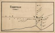 Unionville, New York 1858 Old Town Map Custom Print - Monroe Co.
