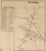 Pittsford Center, New York 1858 Old Town Map Custom Print - Monroe Co.